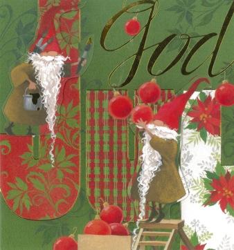 grönt julkort